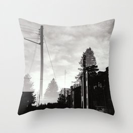Ghostly Lines Throw Pillow