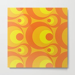 Crazy Orange Circles Metal Print
