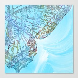 Colorful Abstract Butterfly Design Canvas Print
