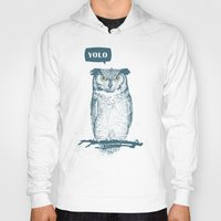 yolo Hoodies featuring YOLO by Balazs Solti