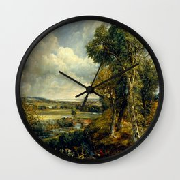 "John Constable ""The Vale of Dedham"" Wall Clock"
