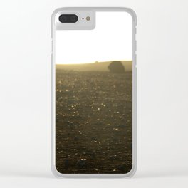 Black beach Clear iPhone Case