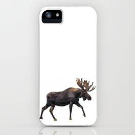 Polygon geometric Moose iPhone Case
