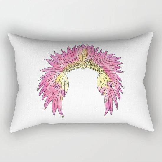 Watercolor Headdress Rectangular Pillow