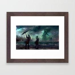 Cthulhu Rises Framed Art Print