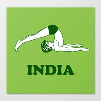 india Canvas Prints featuring India  by Tshirtbaba