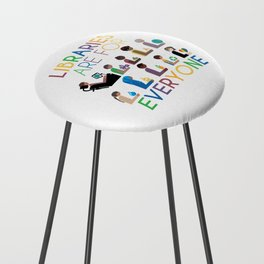 Rainbow Libraries Are For Everyone Counter Stool