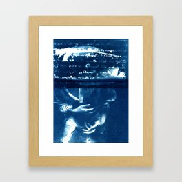 Fragments of the Past (12), art print, collage, blue print, wall art, wall decor, home decor Framed Art Print