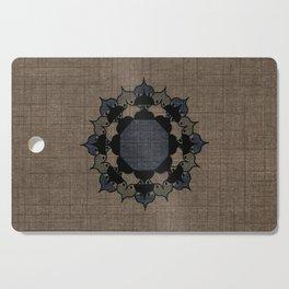 Lotus Mandala on Fabric Cutting Board