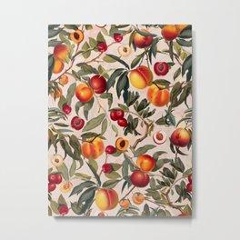 Vintage Fruit Pattern XXIII Metal Print