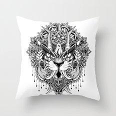 Tiger Mandala Throw Pillow
