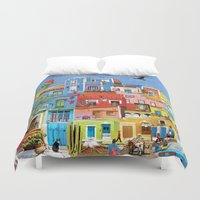 mexico Duvet Covers featuring Mexico by Francesca Sacco
