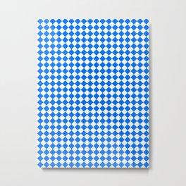 White and Brandeis Blue Diamonds Metal Print