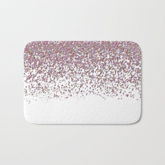 Sparkling rose quartz glitter confetti- Luxury design Bath Mat
