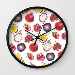 Mixed fruit pattern Wall Clock