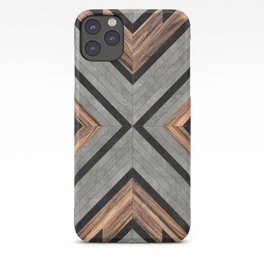 Urban Tribal Pattern No.2 - Concrete and Wood iPhone Case