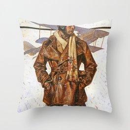 Joseph Christian Leyendecker - Air Force Pilot - Digital Remastered Edition Throw Pillow