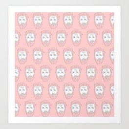 Pink yet still Hardy Art Print