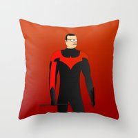 nightwing Throw Pillows featuring Nightwing by pablosiano
