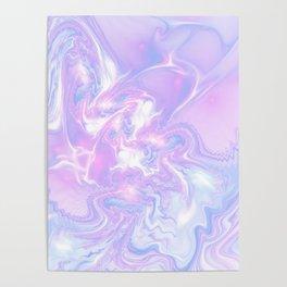 Purple Fantasy Marble Poster