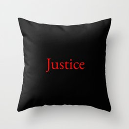 Justice 2- red Throw Pillow