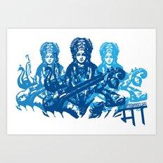 Saraswati Triple Art Print