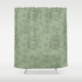 The Night Gardener - Endpapers Shower Curtain