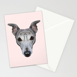 Whippet // Pastel Pink Stationery Cards