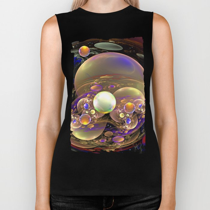 Gathering of the Planets, Fractal abstract Biker Tank