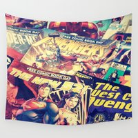dc comics Wall Tapestries featuring Comics by Miss-Lys