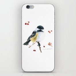 Christmas Chickadee by Teresa Thompson iPhone Skin