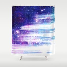 Streaks in Space Shower Curtain