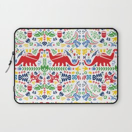 Swedish Folk Art Dinosaurs Laptop Sleeve