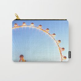 orange Ferris Wheel in the city with blue sky Carry-All Pouch