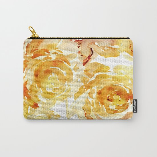 Sunny Day Painterly Floral Abstract Carry-All Pouch