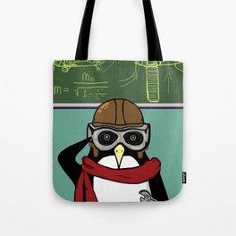 Little Penguin, Big Plans Tote Bag