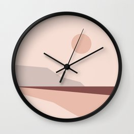 Abstract Landscape 02 Wall Clock