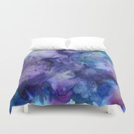 Watercolor Ink Abstract Duvet Cover