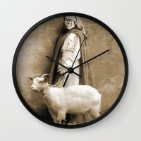 nurse Wall Clocks featuring the nurse by Seamless