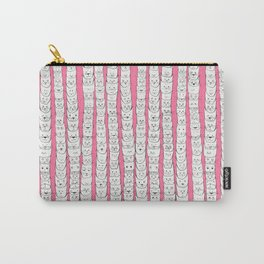 Stacks of cats pink Carry-All Pouch