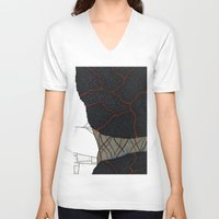 kaiju V-neck T-shirts featuring kaiju by thefleafarm (Amy Wright)