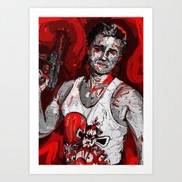 Jack Burton Tribute (Red Version) Art Print