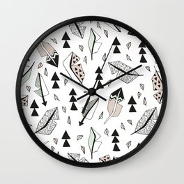 Cupid indian summer feathers and arrows Wall Clock