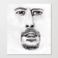 dave grohl Canvas Prints featuring Realisation - Dave Grohl  by Shute Illustration
