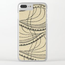 River Formation Diagram Clear iPhone Case