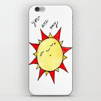 you are my sunshine iPhone & iPod Skins featuring Sunshine  by BriannaCamp