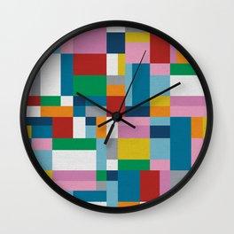 Map Tex Wall Clock