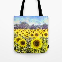 Sunflower Fields Of Summer Dreams Tote Bag