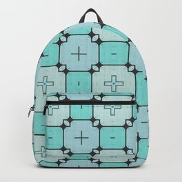 Turquoise Geometrical Pattern Backpack
