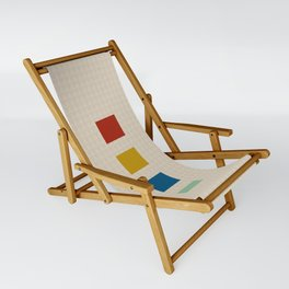 four elements || tweed & primary colors Sling Chair